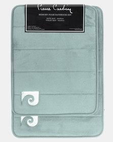 Pierre Cardin Memory Foam 2 Piece Bath Set Green