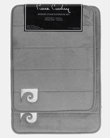 Pierre Cardin Memory Foam 2 Piece Bath Set Grey