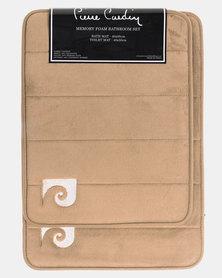 Pierre Cardin Memory Foam 2 Piece Bath Set Neutral