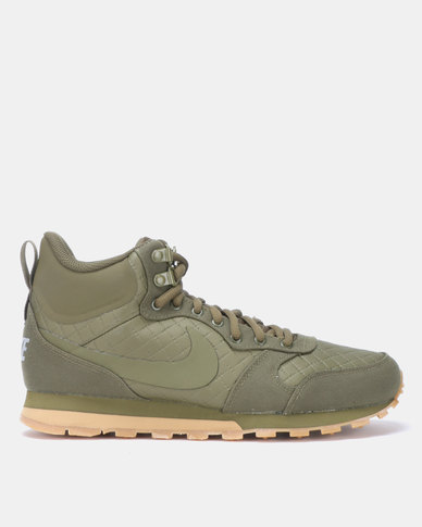 best website 0f848 7d2b2 Nike MD Runner 2 Mid Prem Sneakers Olive Canvas   Zando