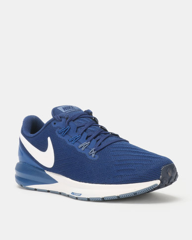 san francisco 335ac d8306 Nike Performance Mens Air Zoom Structure 22 Running Shoes Blue/White
