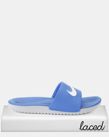 Nike Kids Kawa Slides Blue/White