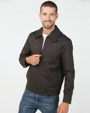 Utopia Cotton Twill Harrington Jacket Olive