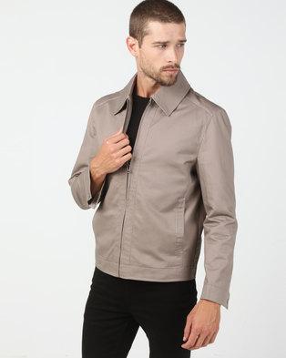 Utopia Cotton Twill Harrington Jacket Stone