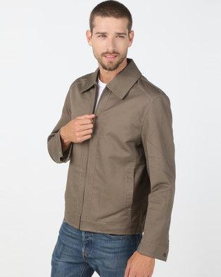 Utopia Cotton Twill Harrington Jacket Khaki