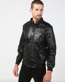 Utopia PU Jacket Black