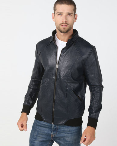 Utopia PU Jacket Navy