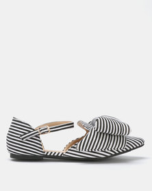 Footwork Trinity Bow Flats Black-White