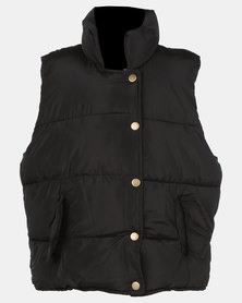 Utopia Kids Sleeveless Puffer Black