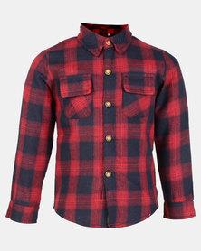 Utopia Kids Western Check Shirt Red/Navy