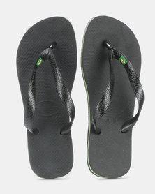 low priced 5751c d583a Havaianas Brazil Flip Flops Black