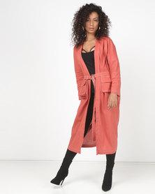 Utopia Linen Kimono Brick Orange