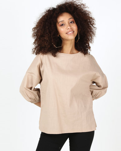 Utopia Puff Sleeve Top Stone