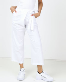 Utopia Linen Wide Leg Trousers White