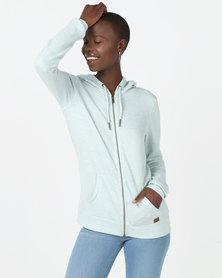 Roxy Trippin Zip-Thru Sweater Light Blue