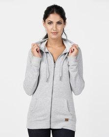 Roxy Trippin Zip-Thru Sweater Grey