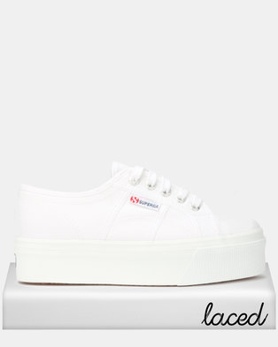 3cae625fc49a Superga Classic Canvas Full Wedge White