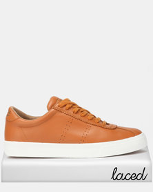 Superga Club S Soft Leather Sudan Brown