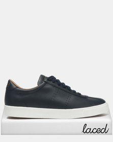 Superga Club S Soft Leather Blue Navy/White