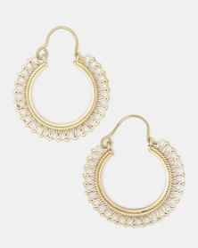 Lily & Rose Brass Drop Earrings Gold-Toned