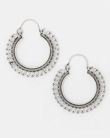Lily & Rose Brass Drop Earrings Silver-Toned