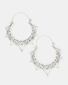 Lily & Rose Brass SunRay Drop Earrings Silver-Toned