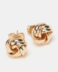 Lily & Rose Goldplated knot stud Earrings Gold-tone