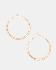 Lily & Rose Goldplated Hoop Earrings Gold-toned