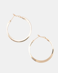 Lily & Rose Goldplated Double Twist Hoop Earrings Gold-toned