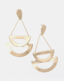 Lily & Rose Open Teardrop Earrings Gold-Toned