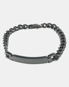 Xcalibur Steel ID Curb Bracelet Black