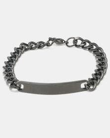 Xcalibur Steel ID Curb Bracelet Black