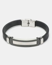 Xcalibur Steel Rubber Two Tone ID Bracelet Multi