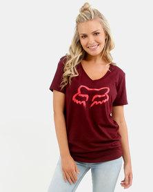 Fox Acrux V Neck T-Shirt Zin