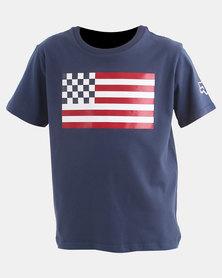 Fox Boys Patriot T-Shirt French Navy