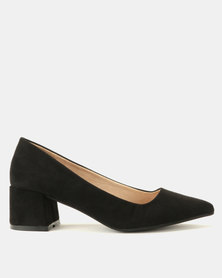 Utopia Block Heel Courts Black
