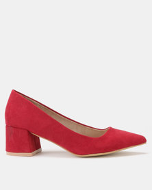 Utopia Block Heel Courts Burgundy
