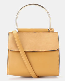 New Look Metal Circle Handle Bag Tan