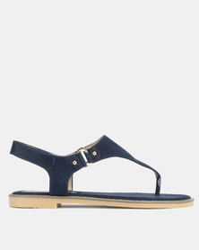 Utopia Faux Suede Sandals Navy