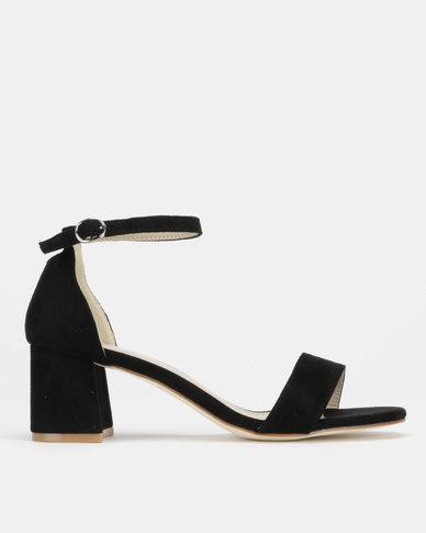 Utopia Mid Block Heel Sandals Black