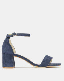 Utopia Mid Block Heel Sandals Navy