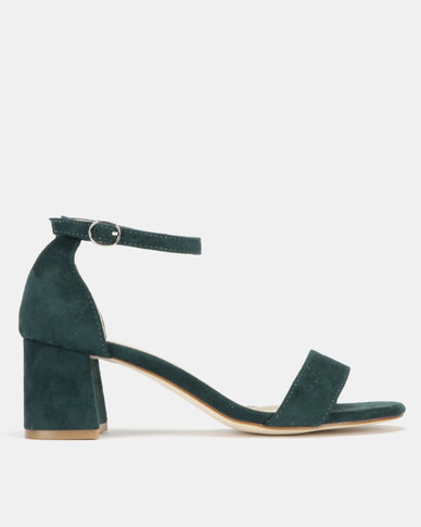 Utopia Mid Block Heel Sandals Green