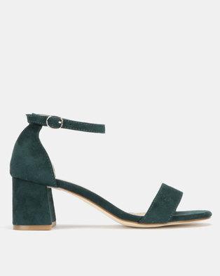 Utopia Mid Block Heel Sandals Green