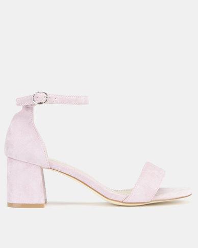 Utopia Mid Block Heel Sandals Lilac
