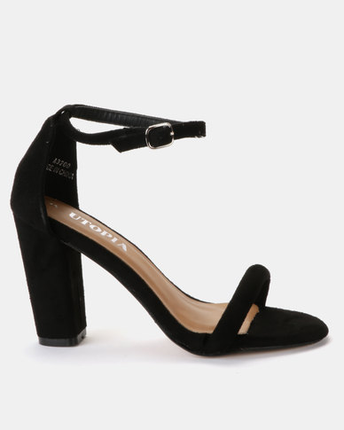 Utopia Sexy Barely There Sandals Black