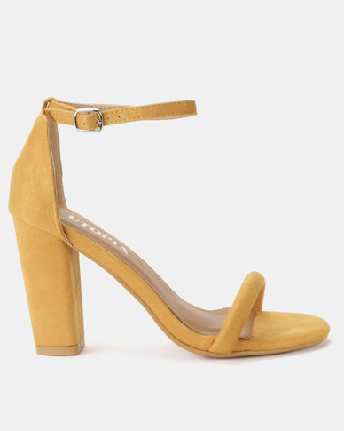 Utopia Sexy Barely There Sandals Mustard