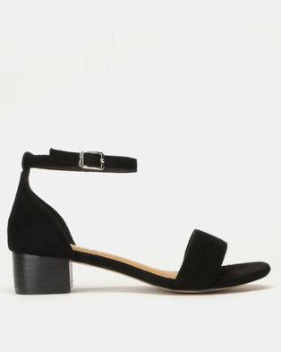 Utopia Low Block Heel Sandals Black