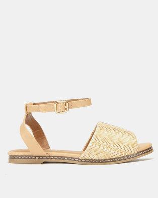 Utopia Weave Flat Sandals Beige