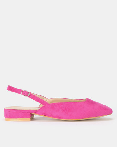 Utopia Flat Slingbacks Hot Pink