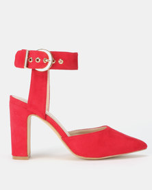 Utopia Ankle Strap Courts Red